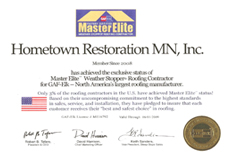 Hometown Restoration Minnesota Award